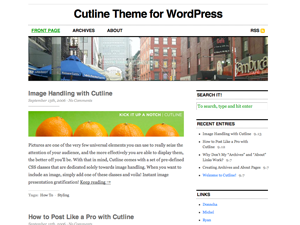 Cutline Theme Screenshot